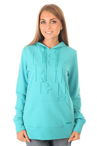 Толстовка кенгуру женская Oakley Shadow Hoody Bright Aqua<br><br>Цвет: голубой<br>Тип: Толстовка кенгуру<br>Возраст: Взрослый<br>Пол: Женский
