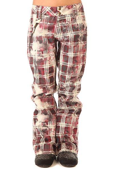 Штаны сноубордические женские Oakley Brookside Pant RedwoodСноубордические штаны с утеплителем Thinsulate для надежной защиты от мороза в горах.Технические характеристики: Утеплитель Thinsulate 60 г.Вентиляционные отверстия на молнии.Петли для ремня.Теплые карманы для рук.Снегозащитные гетры.<br><br>Цвет: мультиколор<br>Тип: Штаны сноубордические<br>Возраст: Взрослый<br>Пол: Женский