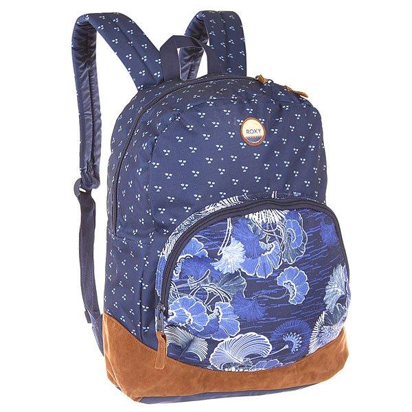Рюкзак городской женский Roxy Fairness Perpetual Flower BlueКомпактный женский рюкзак в стильном цветочном  дизайне от Roxy.Технические характеристики: Полиэстер и искусственная замша.Одно основное отделение.Передний карман на молнии с внутренним органайзером.Внутренний карман на молнии.Мягкие эргономичные лямки.Удобная, мягкая задняя панель.Логотип Roxy.<br><br>Цвет: синий<br>Тип: Рюкзак городской<br>Возраст: Взрослый<br>Пол: Женский