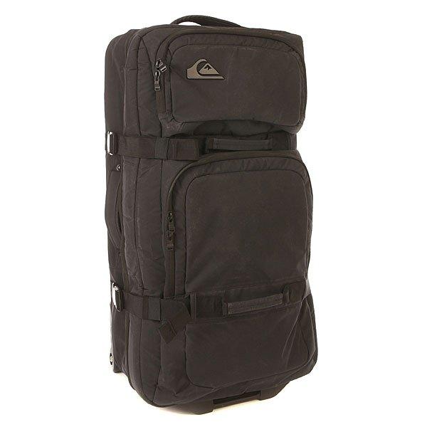 Сумка дорожная Quiksilver Passage Oldy BlackОчень вместительный чемодан на колесиках. Благодаря невероятно маневреннымколесикам, созданным по аналогу скейтбордических колес, с таким чемоданом Вы легко сможете перемещаться даже в самом людном аэропорту. Два основных отделения конструкции сэндвич обеспечивают простоту и легкостьиспользования, поэтому достать все необходимые вещи Вы сможете очень быстро, так же как и убрать что-то в последний момент.Характеристики:Чемодан на колесиках.Конструкция сэндвич.Телескопическая ручка. 2 основных отделения.2 ручки для переноски. 2 передних кармана для мелочей на молнии.Стягивающие ремни. Маневренные колесики, созданные по аналогу скейтбордических колес. Фирменная нашивка QuikSilver спереди.<br><br>Цвет: черный<br>Тип: Сумка дорожная<br>Возраст: Взрослый<br>Пол: Мужской