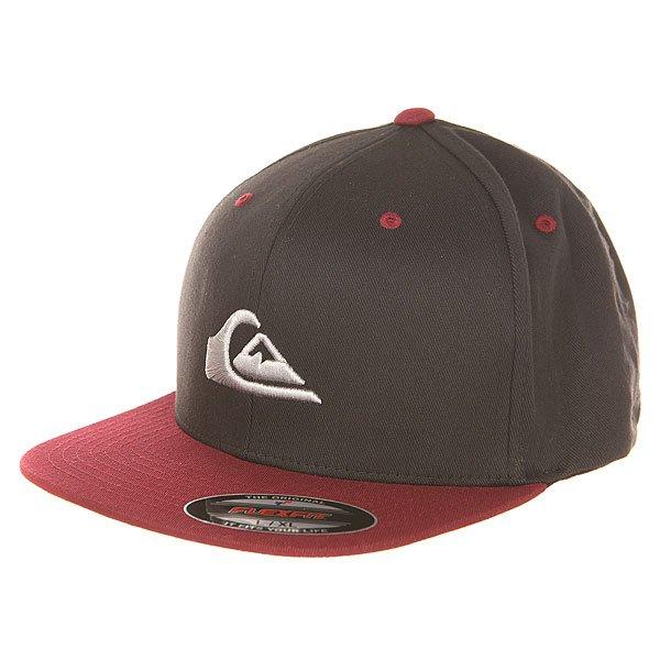 Бейсболка с прямым козырьком Quiksilver Stuckles Hats Port Royale<br><br>Цвет: черный,бордовый<br>Тип: Бейсболка с прямым козырьком<br>Возраст: Взрослый<br>Пол: Мужской