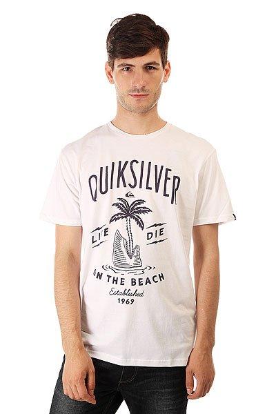Футболка Quiksilver Classteessshais Tees White<br><br>Цвет: белый<br>Тип: Футболка<br>Возраст: Взрослый<br>Пол: Мужской