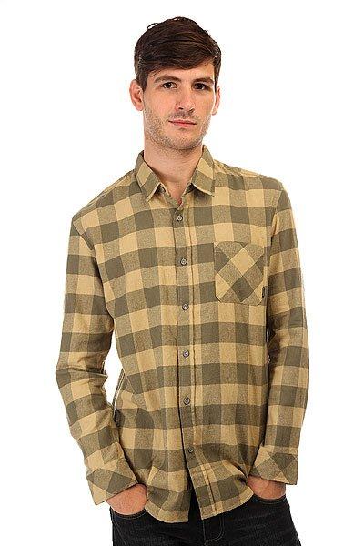 Рубашка в клетку Quiksilver Motherflyfla Dusty Olive рубашка в клетку quiksilver helsby american beau