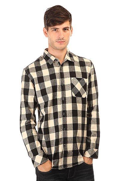 Рубашка в клетку Quiksilver Motherflyfla Black<br><br>Цвет: белый,черный,серый<br>Тип: Рубашка в клетку<br>Возраст: Взрослый<br>Пол: Мужской