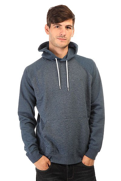 Толстовка кенгуру Quiksilver Everyday Hood Dark Denim толстовка кенгуру quiksilver keller hood wild ginger