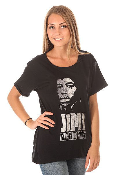 Футболка женская Roxy Jimi Tee True Black<br><br>Цвет: черный<br>Тип: Футболка<br>Возраст: Взрослый<br>Пол: Женский