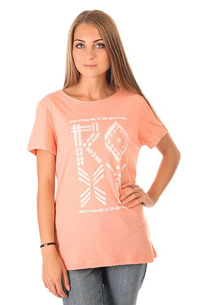 Футболка женская Roxy Crewrxytribes Peach Amber<br><br>Цвет: розовый<br>Тип: Футболка<br>Возраст: Взрослый<br>Пол: Женский