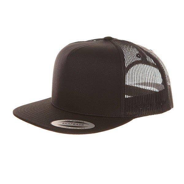 Бейсболка с сеткой Flexfit 6005ff Black бейсболка flexfit independent stock o g b c  flexfit black