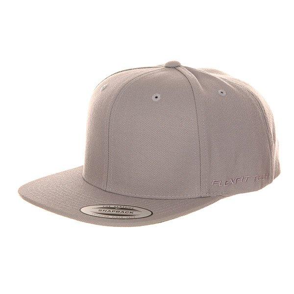 Бейсболка с прямым козырьком Flexfit 6089m Silver бейсболка flexfit independent stock o g b c  flexfit black