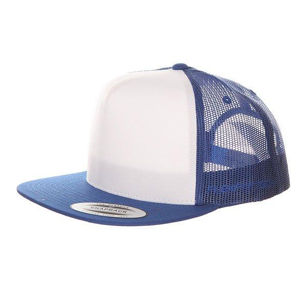 Бейсболка с сеткой Flexfit 6005FW Royal/White<br><br>Цвет: белый,синий<br>Тип: Бейсболка с сеткой<br>Возраст: Взрослый<br>Пол: Мужской