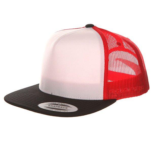 Бейсболка с сеткой Flexfit 6005FW Black/White/Red бейсболка flexfit independent stock o g b c  flexfit black