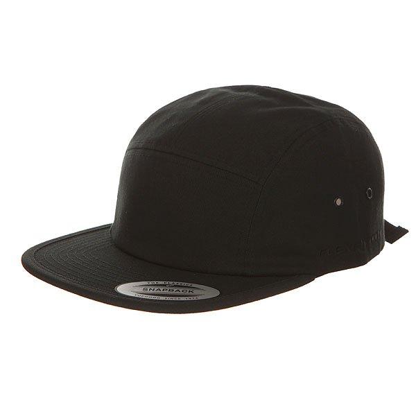 Бейсболка пятипанелька Flexfit 7005 Black бейсболка flexfit independent stock o g b c  flexfit black