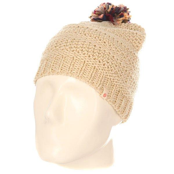 Шапка детская Roxy Old PristineОчаровательная вязаная шапка с помпоном из новой коллекции. Маленьким модницам понравится. Характеристики:Крупная вязка. Флисовая подкладка.Нашивка с логотипом.<br><br>Цвет: бежевый<br>Тип: Шапка<br>Возраст: Детский