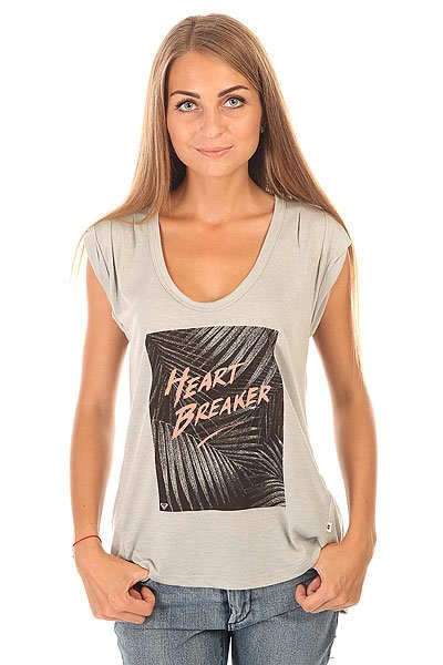цена Футболка женская Roxy Barrelbreaker J Tees Heritage Heather онлайн в 2017 году