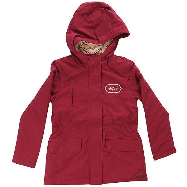Куртка детская Roxy Noisy Red PlumДетская стеганая куртка от Roxy.Технические характеристики: Мягкая хлопковая подкладка с принтом.Карманы для рук и нагрудный карман.Застежка на молнии и кнопках.Эластичная талия./li&gt;Логотип Roxy.<br><br>Цвет: бордовый<br>Тип: Куртка<br>Возраст: Детский