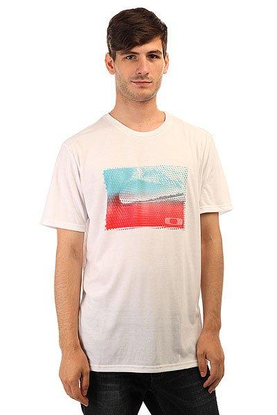 Футболка Oakley O-Wave Tee White<br><br>Цвет: серый,белый<br>Тип: Футболка<br>Возраст: Взрослый<br>Пол: Мужской