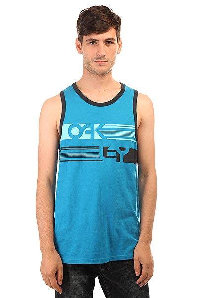 Майка Oakley O Tank Fluid Blue<br><br>Цвет: синий<br>Тип: Майка<br>Возраст: Взрослый<br>Пол: Мужской
