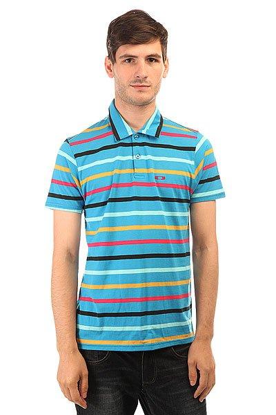 Поло Oakley Blue Streak Polo Fluid Blue<br><br>Цвет: синий,мультиколор<br>Тип: Поло<br>Возраст: Взрослый<br>Пол: Мужской