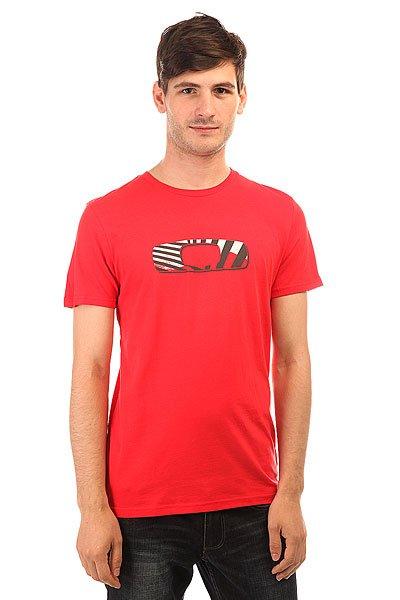 Футболка Oakley In Orbit Red Line<br><br>Цвет: красный<br>Тип: Футболка<br>Возраст: Взрослый<br>Пол: Мужской