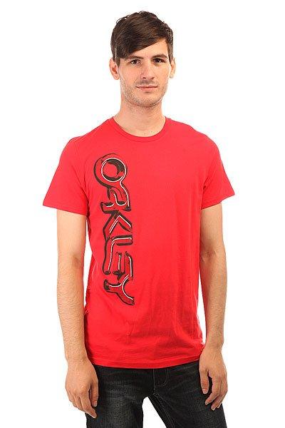 Футболка Oakley Subterranean Tee Red Line<br><br>Цвет: красный<br>Тип: Футболка<br>Возраст: Взрослый<br>Пол: Мужской