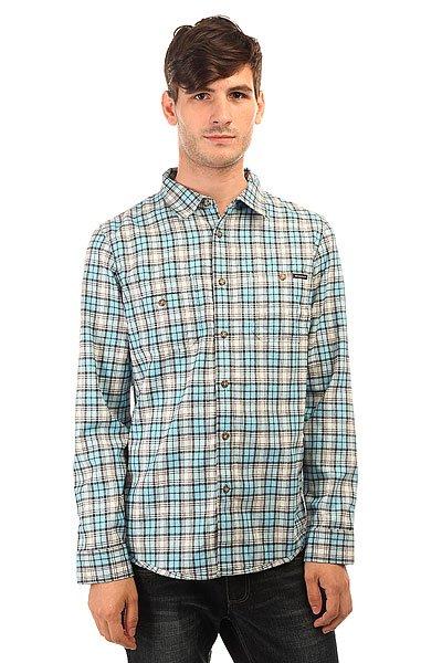 Рубашка в клетку Oakley Temperate Woven Ethereal Blue<br><br>Цвет: белый,голубой<br>Тип: Рубашка в клетку<br>Возраст: Взрослый<br>Пол: Мужской