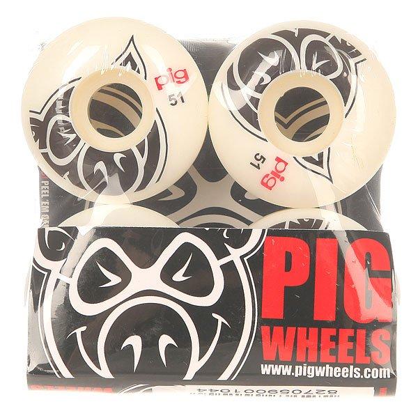 Колеса для скейтборда для скейтборда Pig Head Natural 101A 51 mmДиаметр: 51 mm    Жесткость: 101A    Цена указана за комплект из 4-х колес<br><br>Цвет: белый<br>Тип: Колеса для скейтборда
