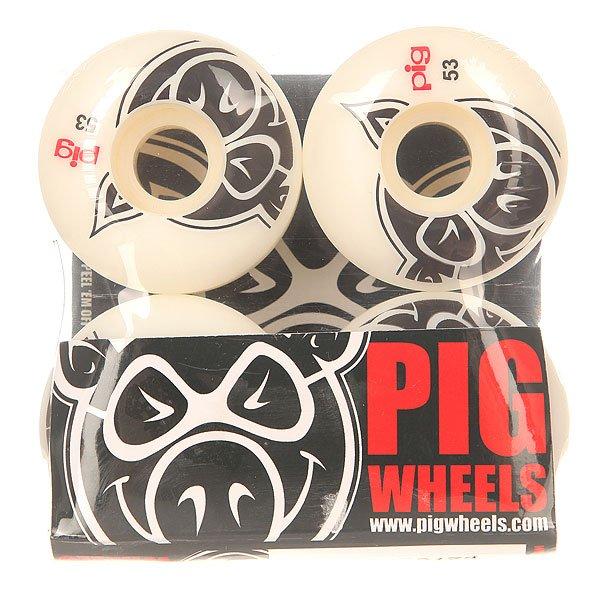 Колеса для скейтборда для скейтборда Pig Head Natural 53 mmДиаметр: 53 mm    Цена указана за комплект из 4-х колес<br><br>Цвет: белый<br>Тип: Колеса для скейтборда