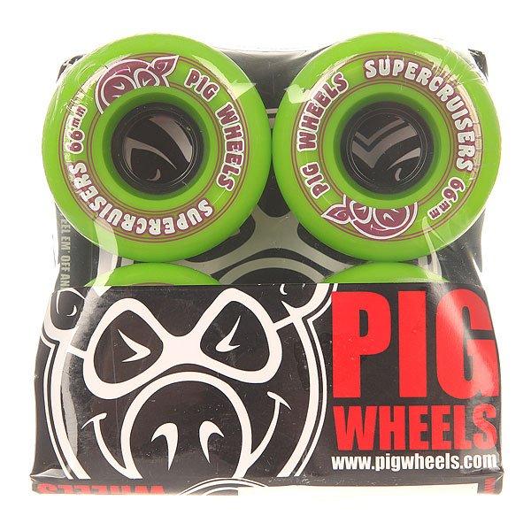 Колеса для скейтборда для скейтборда Pig Supercruiser Ii Green 85A 66 mm