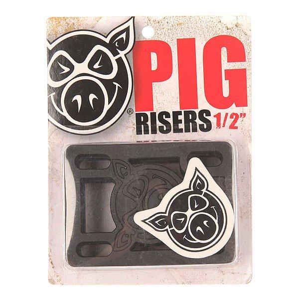 Подкладка Pig Riser Pad True BlackЦена указана за 2 подкладки    Подкладки прямые    Толщина: 1/2<br><br>Цвет: черный<br>Тип: Подкладка