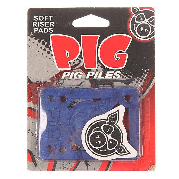 Подкладка Pig Piles Soft Shockpads BlueЦена указана за 2 подкладки    Подкладки прямые    Толщина: 1/8<br><br>Цвет: голубой<br>Тип: Подкладка