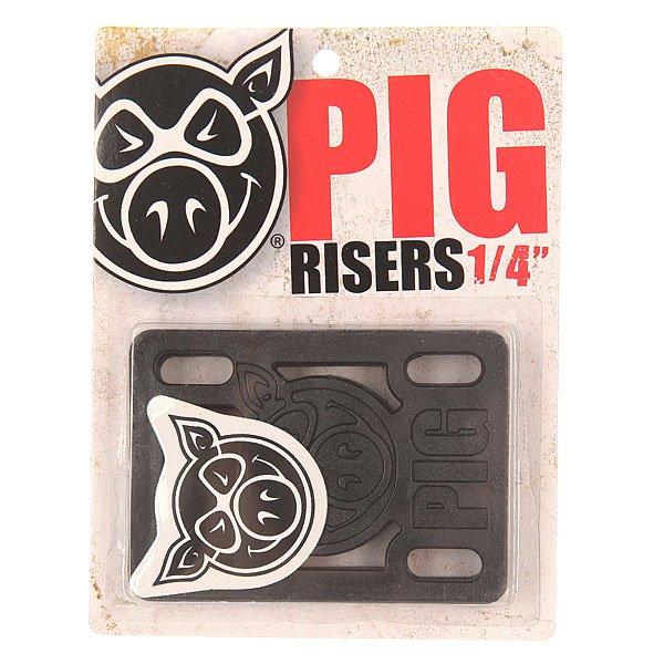 Подкладка Pig Riser Pad BlackЦена указана за 2 подкладки    Толщина: 1/4    Подкладки прямые<br><br>Цвет: черный<br>Тип: Подкладка