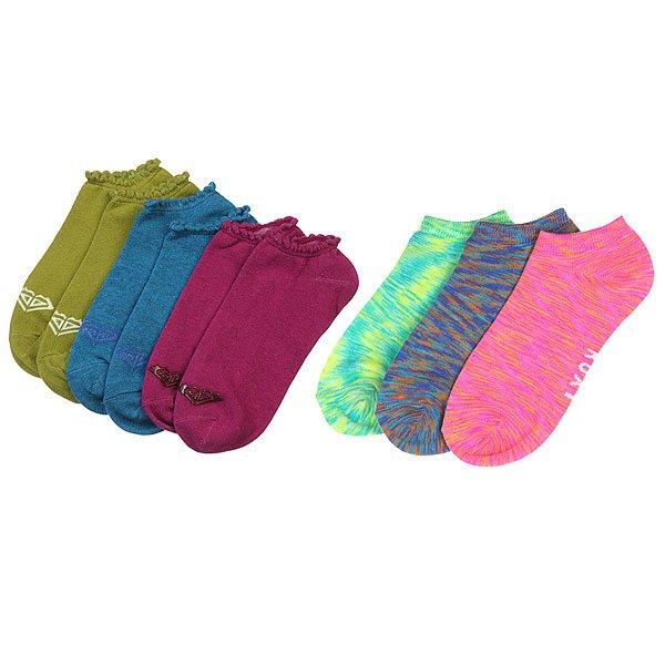 Комплект носков женский Roxy Неделя Без Забот Multi1137116, 1117824<br><br>Цвет: мультиколор<br>Тип: Комплект носков<br>Возраст: Взрослый<br>Пол: Женский
