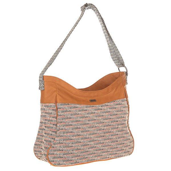 Сумка женская Roxy Sky Bone BrownНебо и песок - женская сумка средних размеров от Roxy.Технические характеристики: Текстиль с узорчатым принтом.Средний размер.Основное отделение на металлической молнии.Внутренний карман на молнии.Регулируемый плечевой ремень.Металлический значок с логотипом Roxy.<br><br>Цвет: мультиколор<br>Тип: Сумка<br>Возраст: Взрослый<br>Пол: Женский