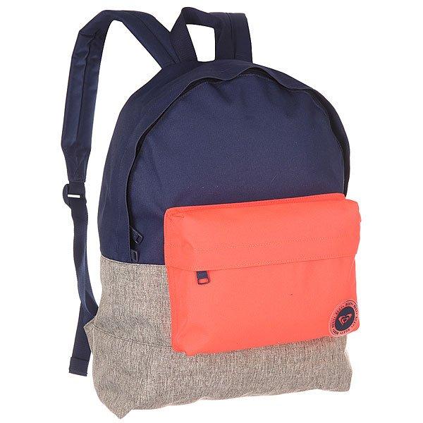 Рюкзак городской женский Roxy Sugar Bkpk Grey/Blue/Pink
