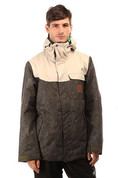 Куртка Oakley Rykkinn Jacket Worn OliveМужская куртка, в которой Вы можете заниматься спортом или просто прогуливаться по городу – в любом случае Вы неизменно останетесь довольны. Коллекция Pro Rider.Технические характеристики: Ультра прочная и водонепроницаемая ткань Hydrogauge™ 10.Утеплитель Thinsulate™ для максимального тепла и минимального объема.Капюшон OOR™ для удобной посадки.Проклеенные швы для прочности.Карманы для рук.Карман для маски.Вентиляционные отверстия на молнии.Фиксированная снежная юбка с Lycra®.Подол с регулировкой.<br><br>Цвет: бежевый,зеленый<br>Тип: Куртка утепленная<br>Возраст: Взрослый<br>Пол: Мужской