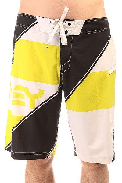 Шорты пляжные Oakley Intense Boardshort Sulphur<br><br>Цвет: черный,белый,желтый<br>Тип: Шорты пляжные<br>Возраст: Взрослый<br>Пол: Мужской