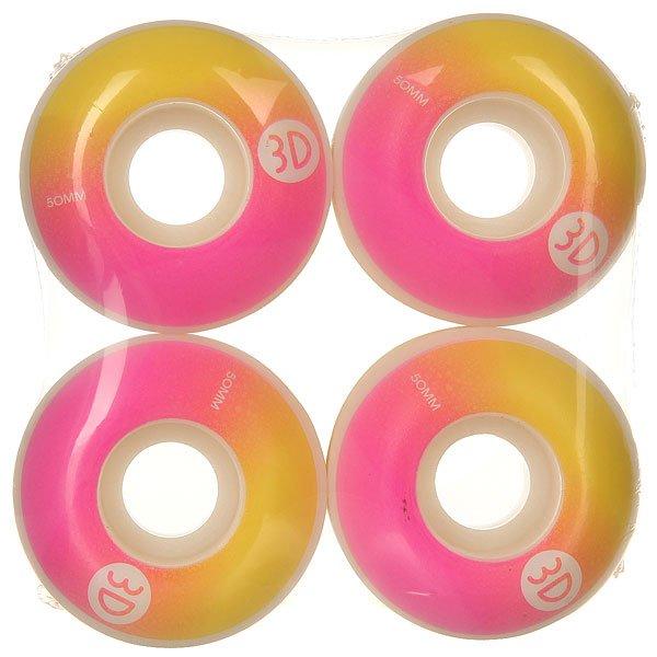 Колеса для скейтборда для скейтборда 3D Logo Gradient 98A 50 mmДиаметр: 50 mm    Жесткость: 98A    Цена указана за комплект из 4-х колесКачественные колеса для скейтборда от 3D Skateboards.Технические характеристики: В комплекте 4 колеса.Жесткость 98А.Диаметр 50 мм.<br><br>Цвет: желтый,белый,розовый<br>Тип: Колеса для скейтборда