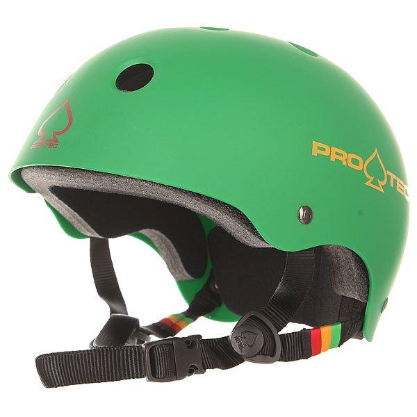 цена на Шлем для скейтборда Pro-Tec Classic Skate Matte Rasta Green