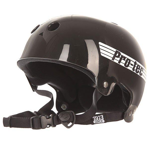 Шлем для скейтборда Pro-Tec Bucky Gloss Retro Black шлем 30 х годов мех коза кофе
