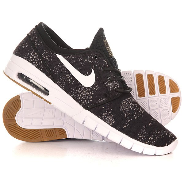 Кроссовки Nike Stefan Janoski Slip Prm Black/White/Light BrownСкейтбордические кеды с пятнистым верхом, напоминающим пчелиный рой, обеспечивают непревзойденную амортизацию, гибкость и уверенное сцепление с доской, как и любая модель Janoski.Технические характеристики: Прочный верх из текстиля обеспечивает воздухопроницаемость и комфорт.Вставка Max Air в области пятки для мягкой амортизации и защиты от ударных нагрузок.Благодаря глубоким разнонаправленным эластичным желобкам подошва движется вместе со стопой, обеспечивая превосходное сцепление с доской.Низкопрофильная подошва из материала Phylon обеспечивает амортизацию без утяжеления и стабилизацию.Мягкая стелька из пены обеспечивает дополнительную амортизацию для всей стопы.Резиновые вставки на подошве для уверенного сцепления с доской.<br><br>Цвет: черный<br>Тип: Кроссовки<br>Возраст: Взрослый<br>Пол: Мужской