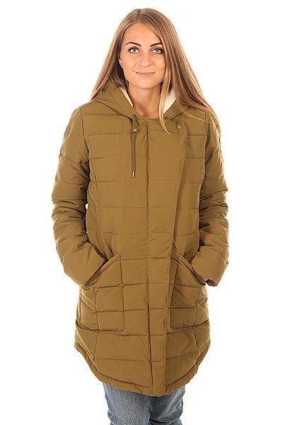 Куртка зимняя женская Roxy Indi J Jckt Military OliveОптимальное по длине и аккуратное по форме, пальто Roxy Indi представляет приятный набор характеристик, которые позволят даже в самые ненастные дни оставаться в сухости, тепле и комфорте. Оригинальная асимметричная застежка, подкладка из шерпа-флиса в области верхней части тела и капюшона, вместительные карманы и водоотталкивающая пропитка ткани - будьте уверены, что даже самые неприятные дни межсезонья подарят Вам уютное настроение и позволят с комфортом наслаждаться прогулками. Характеристики:Прямой крой. Полукруглый подол.Просторный регулируемый капюшон. Вместительные боковые карманы.Подкладка из шерпа-флиса в области верхней части тела и капюшона.Асимметричная застежка молнии. Водоотталкивающая пропитка верха.Нашивка Roxy.<br><br>Цвет: зеленый<br>Тип: Куртка зимняя<br>Возраст: Взрослый<br>Пол: Женский