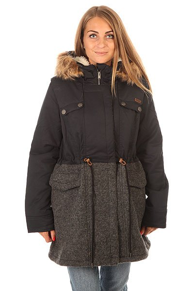 Куртка зимняя женская Roxy Anzoras J Jckt True Black roxy гейтор roxy winter true black fw17