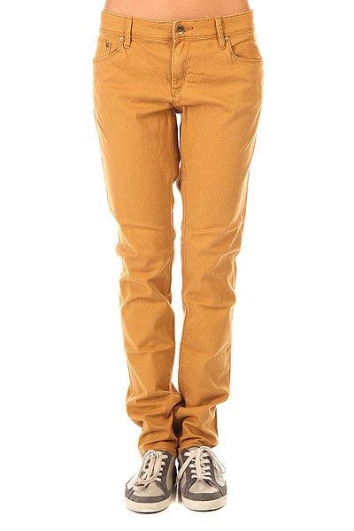 Штаны узкие женские Roxy Suntrippers J Pant Bone Brown<br><br>Цвет: коричневый<br>Тип: Штаны узкие<br>Возраст: Взрослый<br>Пол: Женский