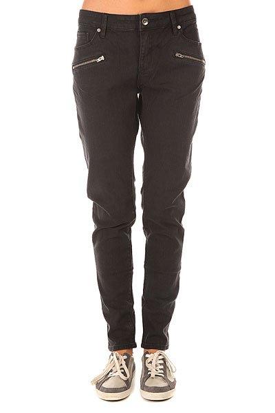 Штаны узкие женские Roxy For J Pant True Black<br><br>Цвет: черный<br>Тип: Штаны узкие<br>Возраст: Взрослый<br>Пол: Женский
