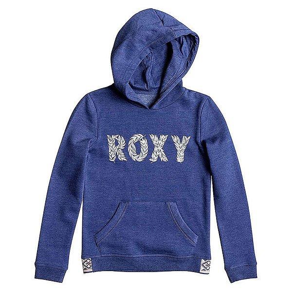 Толстовка кенгуру Roxy Riding G Otlr Blue Print толстовка классическая женская roxy ez does it otlr sailor blue