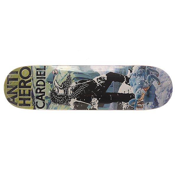 Дека для скейтборда для скейтборда Antihero Cardiel Wild Unknown 32.57 x 8.43 (21.4 см)Ширина деки: 8.43 (21.4 см)    Длина деки: 32.57 (82.7 см)    Количество слоев: 7<br><br>Цвет: мультиколор<br>Тип: Дека для скейтборда