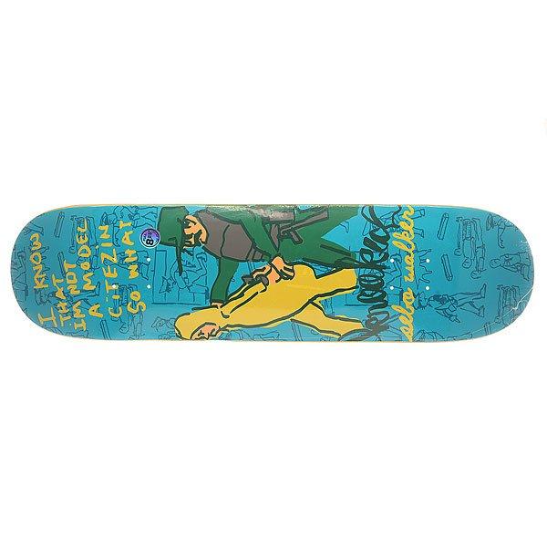 Дека для скейтборда для скейтборда Krooked Sebo In Trouble 32.22 x 8.25 (21 см)Ширина деки: 8.25 (21 см)    Длина деки: 32.22 (81.8 см)    Количество слоев: 7<br><br>Цвет: синий<br>Тип: Дека для скейтборда