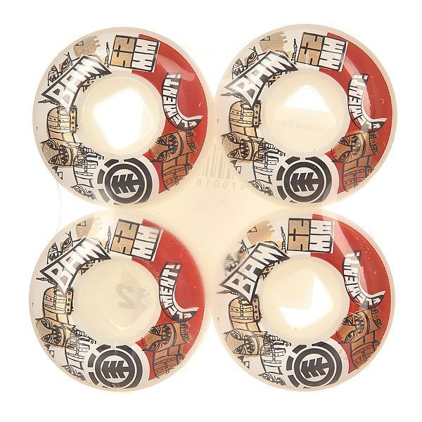 Колеса для скейтборда для скейтборда Element Bam Multi 101A 52 mmДиаметр: 52 mm    Жесткость: 101A    Цена указана за комплект из 4-х колес<br><br>Цвет: мультиколор<br>Тип: Колеса для скейтборда