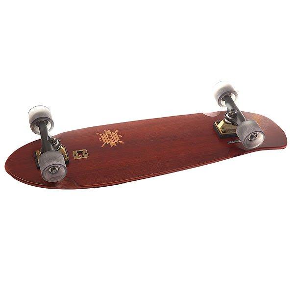 Скейт круизер Globe Big Blazer Cherry/Bamboo 9.25 x 32 (81.8 см)Маневренный круизер с удлиненной колесной базой и встроенной открывалкой для бутылок.Технические характеристики: Длина - 81,3 см, ширина - 23,5 см.Колесная база 44,5 см.Дека с эпоксидной смолой легче, прочнее и служит дольше.Мягкий конкейв с киктейлом.Стандартные подвески Slant 15,2 см.Гладкие и быстрые колеса 62 мм 83А.Переработанная шкурка.Быстрые подшипники ABEC 7.Производительные бушинги SUPER HIGH-REBOUND.<br><br>Цвет: коричневый<br>Тип: Скейт круизер<br>Возраст: Взрослый<br>Пол: Мужской