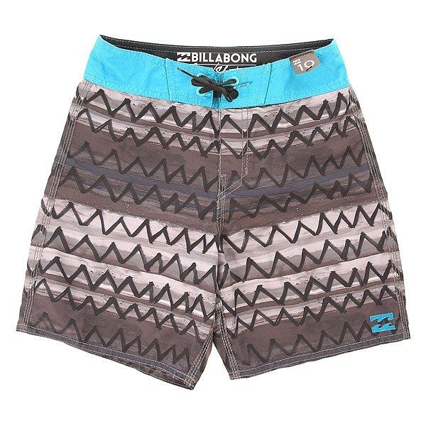 Шорты пляжные детские Billabong Zigzag 15 Black<br><br>Цвет: черный,серый,голубой<br>Тип: Шорты пляжные<br>Возраст: Детский